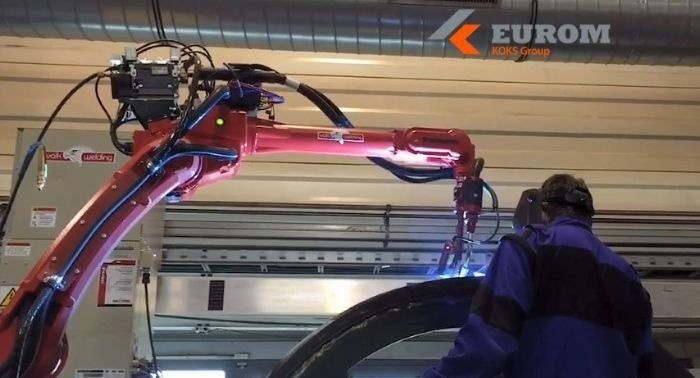 koks eurom czech republic welding robot tank construction building components frames