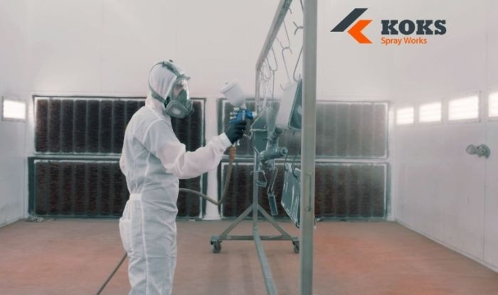 koks spray works paint shop sustainable painting